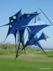 Pic by Gemma Wiseman ~ Unusual, grounded kite at the Kite Festival 2011, Rosebud, Mornington Peninsula ~ Dodge Writes ~ Today's Prompt ~ Bu...