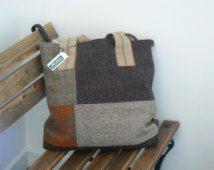 HARRIS TWEED patchwork shopping bag