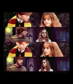 A series of cute random scenes between Ron Weasley and Hermione Granger. Some long some short, basically just Ronmione. Fangirl Warning Only read if you are. Harry Potter Tumblr, La Saga Harry Potter, Arte Do Harry Potter, Yer A Wizard Harry, Harry Potter Books, Harry Potter Love, Harry Potter Universal, Harry Potter Fandom, Harry Potter Memes