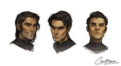 Charlie Bowater draws Cassian, Rhys and Azriel!!!