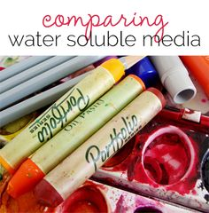 Mixed Media with Michelle Houghton | A Water Soluble Medium Comparison