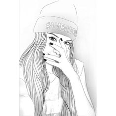 instagram. We Heart It ❤ liked on Polyvore featuring drawing, filler and outline