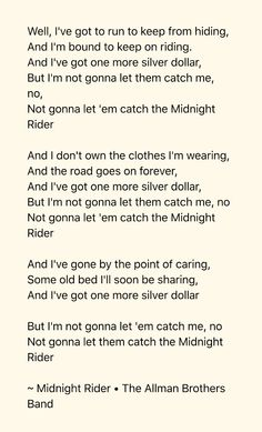 Midnight Rider by The Allman Brothers Band - Songfacts