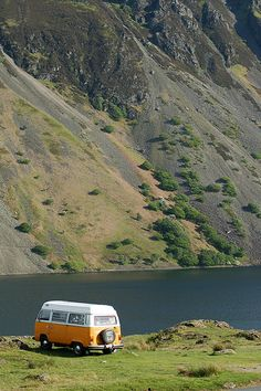 The VW Camper appeals but the freedom to travel in a place I love - think I might prefer something more modern! Clearly taken at Wasdale with the screes in the background