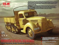 Panzerserra Bunker- Military Scale Models in scale: Ford Maultier - German haltrack 3 ton truck - case report Plastic Model Kits, Plastic Models, Tank Armor, War Thunder, Military Armor, Ford, Truck Art, Ww2 Tanks, High Resolution Wallpapers