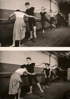 Eartha Kitt teaching James Dean dancing - early 1950's