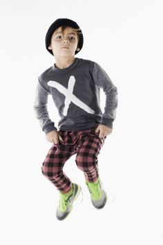 Mini and Maximus Lumberjack Plaid Drop Pants from Mini Ruby