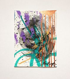 Mariel Lazo-Duran   Abstract with acrylic ink, acrylic paint, paint marker, and uniball pen on multimedia paper