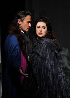 Hrachuhi Bassenz as Donna Elvira and Mariusz Kwiecien as Don Giovanni in the Royal Opera's production of Wolfgang Amadeus Mozart's Don Giovanni...