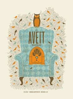 AVETT BROTHERS -CHAIR | Limited Edition Gig Posters Archives - Page 2 of 9 - Methane Studios