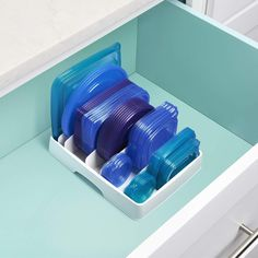 If your cabinet is always overflowing with container lids, get this YouCopia StoraLid Food Container Lid Organiser to keep it all together. Kitchen Organization, Kitchen Storage, Storage Spaces, Kitchen Organizers, Cabinet Organizers, Pantry Storage, Kitchen Pantry, Safe Storage, Household Organization
