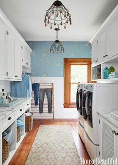 Laundry Room In Kitchen Elegant 25 Small Laundry Room Ideas Small Laundry Room Storage Tips Laundry Room Paint Color, Small Laundry Rooms, Home, Dining Room Design, Small Spaces, Room Design, Room Decor, Room Arrangement Ideas, Mudroom