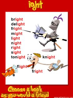 ight Word Family Poster - FREE Printable - Ideal for Word Walls, Literacy Activities, Timed Reading Kids English, English Reading, English Writing, English Words, English Lessons, Learn English, English Language, Language Arts, Phonics Reading