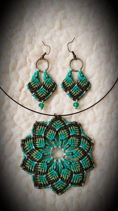 Macrame Earrings, Macrame Jewelry, Crochet Earrings, Tatting Jewelry, Earring Tutorial, Knots, Wraps, Inspire, Diy Crafts