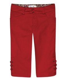 Look at this Aventura Gypsy Red Madison Capris on #zulily today!