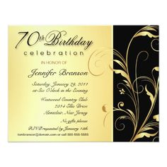 70th Birthday Surprise Party Invitations