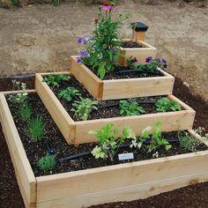 Ideas simples para tener un huerto en el jardín...