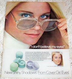1973 vintage ad - CYBILL SHEPHERD Cover Girl make-up cosmetics AD #CoverGirl #Advertisement