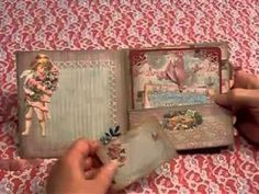Vintage Valentine Mini Album - YouTube