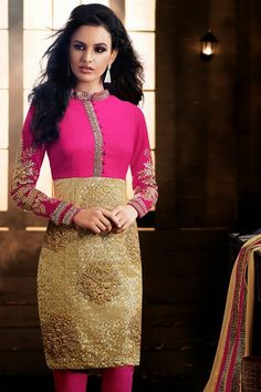 A hint of heritage mixed with eclectic design and colour, our stragit cut suit is perfect for this winter season. Indian Anarkali Dresses, Designer Anarkali Dresses, Designer Dresses, Girls Party Wear, Pakistani Designers, Straight Cut, Latest Fashion Trends, Pink And Gold, Lace Skirt