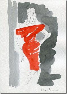 fashion illustration: A veces me gusta manchar y ya está