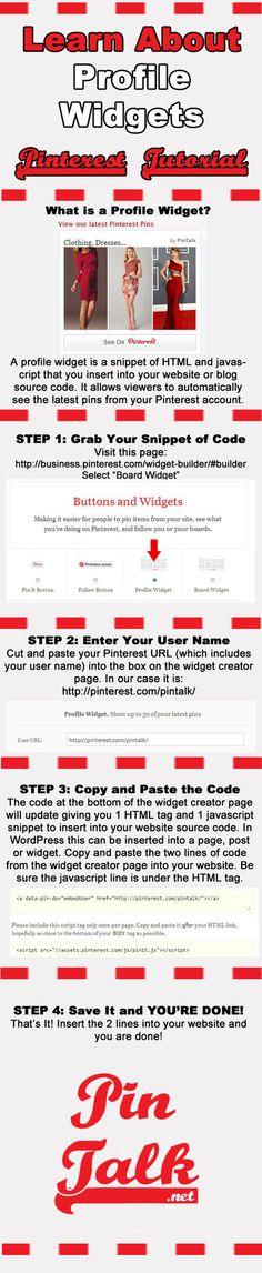 Tutorial Pinterest Profile Widgets https://www.pinterest.com/dcindcmedia/