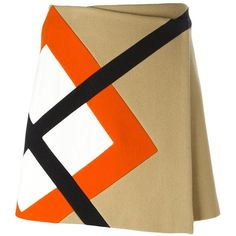 MSGM Argyle Insert Skirt ($329) ❤ liked on Polyvore featuring skirts, mini skirts, msgm, argyle skirt and msgm skirt