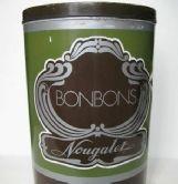 French vintage nougat tin