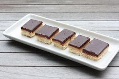 Salted Caramel Chocolate Shortbread Bars. I've seen another recipe in which the caramel was doubled and so the pieces cut smaller.