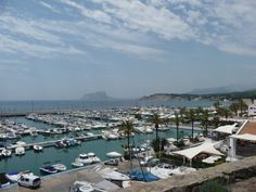 The marina in Moraira