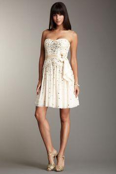 $498.00 BCBGMAXAZRIA Sparkle Shine Strapless Tulle Party Dress 4