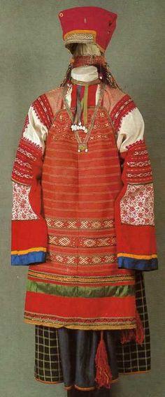 Праздничный костюм молодой женщины. Начало XX века, Тамбовская губерния