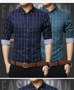 Jmwss QD Mens No-Iron Long Sleeve Patterns Solid Color Button Down Shirts