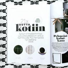 Habitare 2016 | Korpi featured at Finnish interior design magazine Glorian Koti Interior Design Magazine, Magazine Design, Instagram Posts, Blog, Blogging
