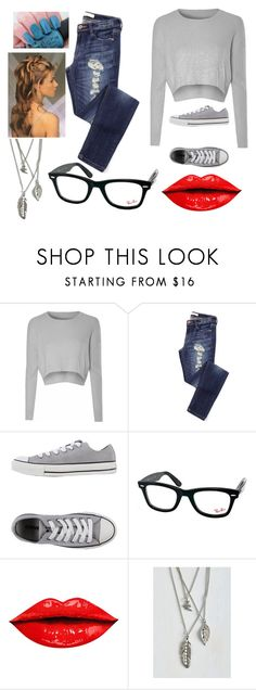 """""""chill with me"""" by troylerzalfie on Polyvore featuring Glamorous, Converse, Ray-Ban, women's clothing, women, female, woman, misses and juniors"""