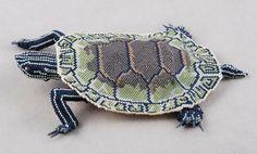 Turtle. Beadwork by Tina Chance