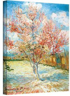 "Art Wall 32'' x 24'' ""Peach Tree in Bloom"" Canvas Wall Art by Vincent van Gogh"