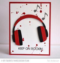 Keep on Rockin' card | MFT | Teri Anderson