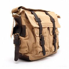 9a94d3127 Vintage Canvas Military with Leather Trims