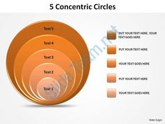 5 concentric circles slides diagrams templates powerpoint info graphics Slide01