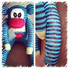Christening monkey gift Sock Monkeys, Christening, Crafty, Gifts, Favors, Presents, Gift