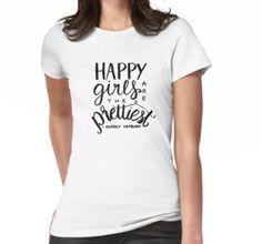 Audrey Hepburn, happy quotes - Happy Girls are the prettiest