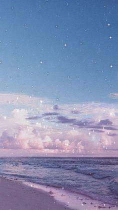 Iphone Wallpaper Tumblr Aesthetic, Aesthetic Pastel Wallpaper, Aesthetic Backgrounds, Aesthetic Wallpapers, Anime Scenery Wallpaper, Beach Wallpaper, Glitter Wallpaper, Butterfly Wallpaper Iphone, Iphone Background Wallpaper