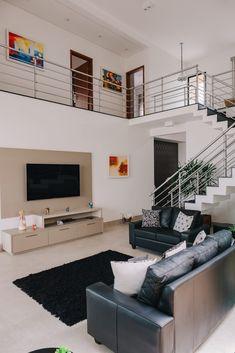 DL 02 - HAUS Arquitetura Modern Small House Design, Small House Interior Design, Home Stairs Design, Home Building Design, Design Your Dream House, Modern House Plans, Home Design Plans, Small House Plans, Minimalist House Design