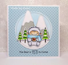 Kuni's Bastelblog : Animal Friends Challenge #57 | the best is yeti to come