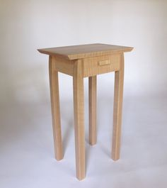 Pair Of Nightstands- Small Bed Side Tables, Set Of Narrow End Tables With…