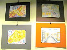 Grades 8 artwork on display at Riverwest Co-op in December 2014.