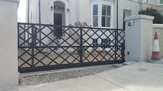 we supply and install steel and timber gates and automation and fencing Timber Gates, Garage Doors, Outdoor Structures, Outdoor Decor, Home Decor, Wood Gates, Decoration Home, Room Decor, Wooden Gates