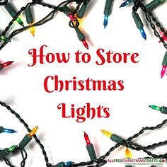We all know the struggle of untangling Christmas lights. Once that string of lights gets tangled, you'll be spending the next few hours trying to undo the damage. However, there are a few solution to prevent this next Christmas. Best Christmas Books, Happy Christmas Day, Christmas Holidays, Christmas Ideas, Diy Christmas Light Storage, Christmas String Lights, Christmas Craft Projects, Christmas Decorations, Holiday Decor