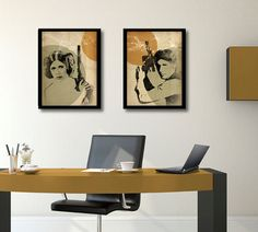 Star Wars poster set Han Solo Princess Leia by PosterInvasion